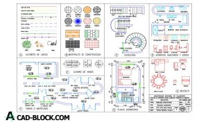 Symbols used in architecture and engineering dwg