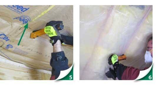 installing insulation, friction