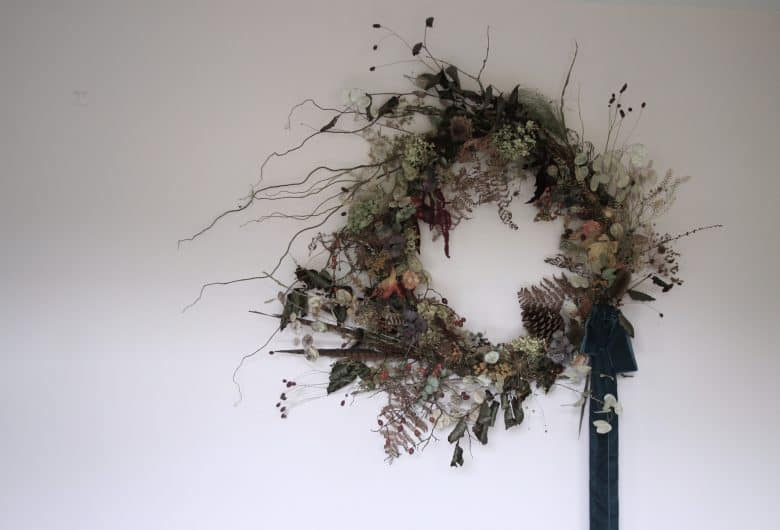 autumn dried flower wreath