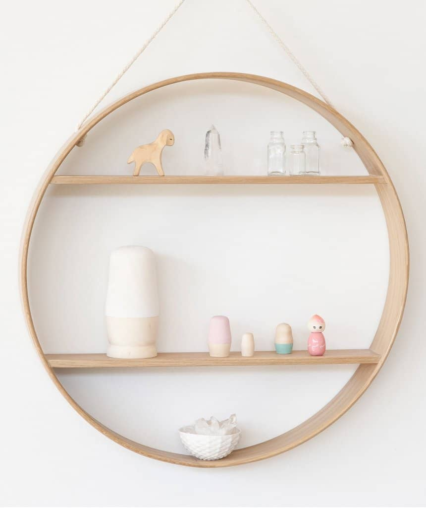 Oak Circle Shelf by Bride and Wolfe